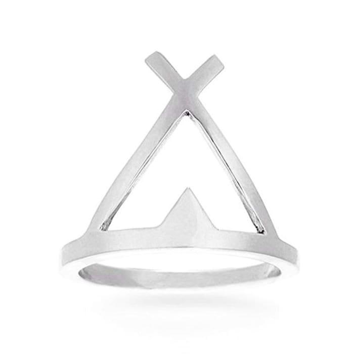 Anel Triangulo Gaia em Prata 950 (0)