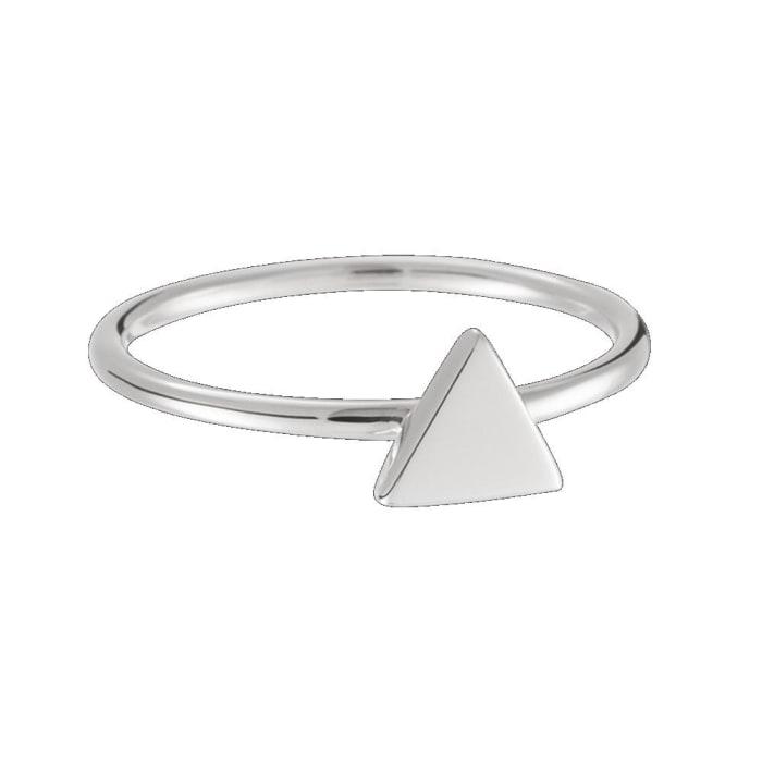 Anel Triangulo Pequeno em Prata 950 (0)