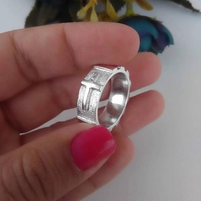 Anel de Terço Masculino 8 mm em Prata 950 (0)