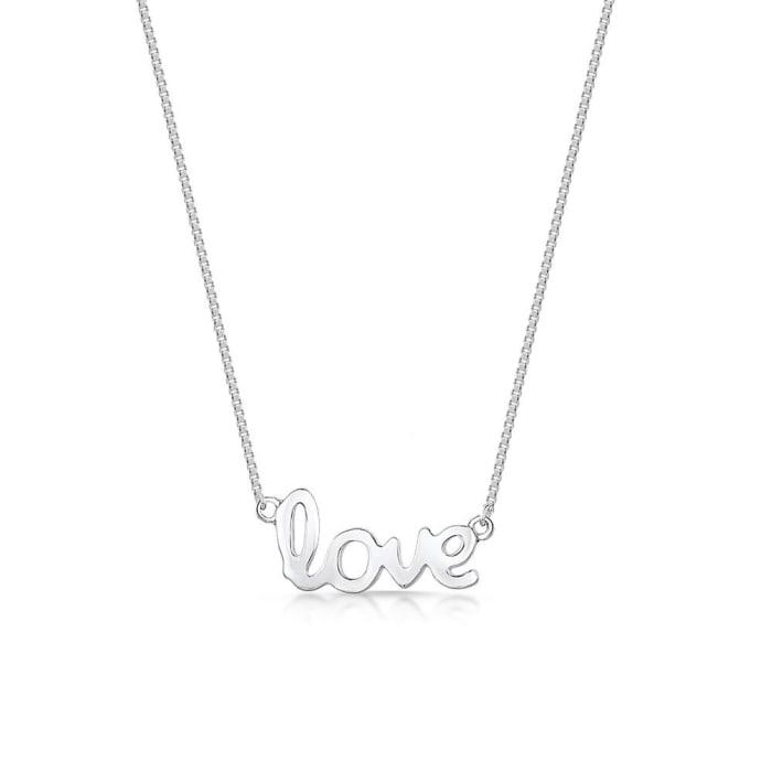 Colar Escrito Love em Prata (0)