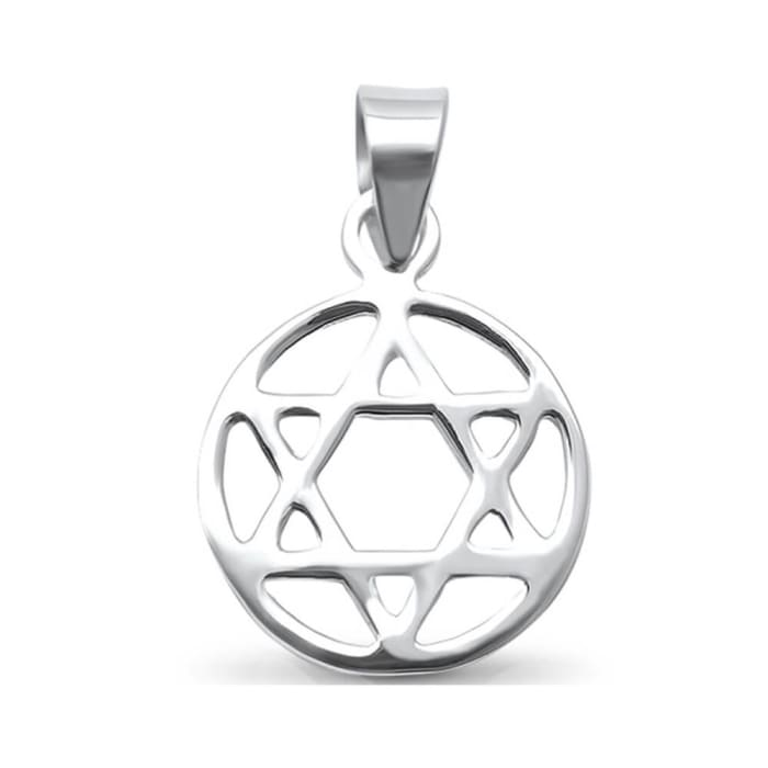 Medalha Estrela de Davi Grande Prata (0)