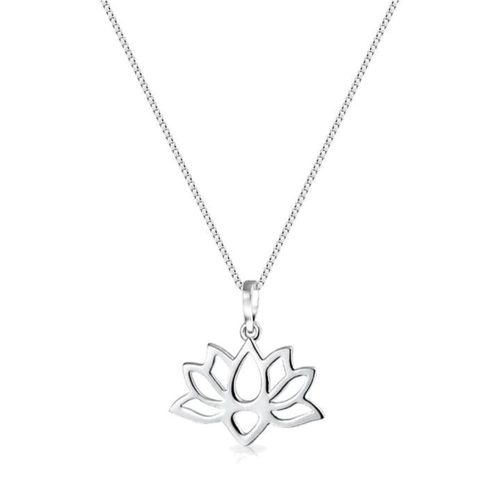 Colar Flor de Lotus Prata 925 (0)