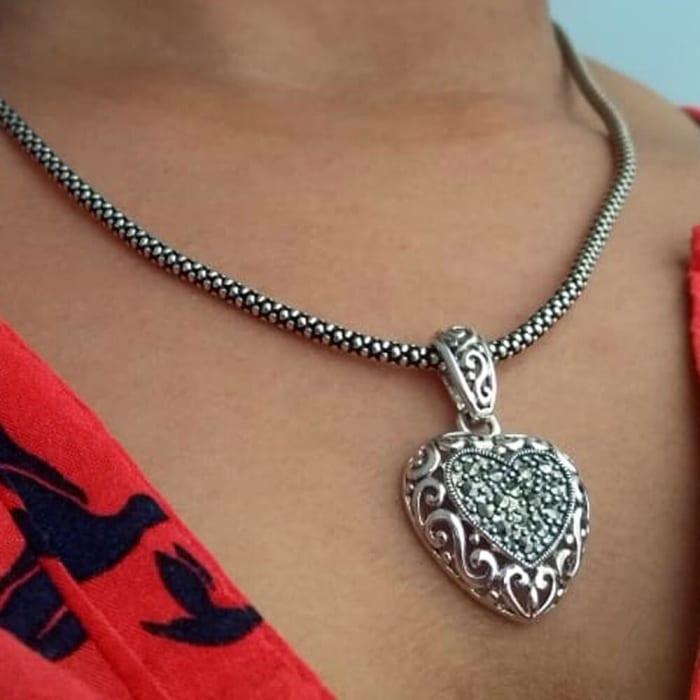 Cordão de Prata com Pingente de Coração (0)