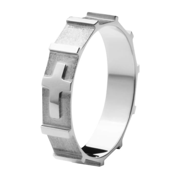 Anel de Terço Engrenagem Prata 4 mm  (0)