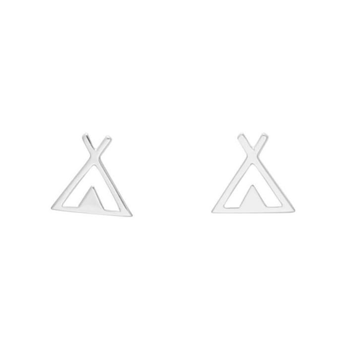 Brinco Triangulo Gaia em Prata 950 (0)