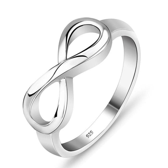Anel de Prata 950 Simbolo Infinito Feminino Presente  (0)