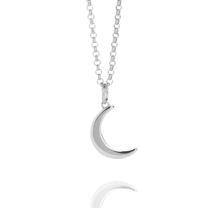 Colar Lua Crescente Prata 950 (0)