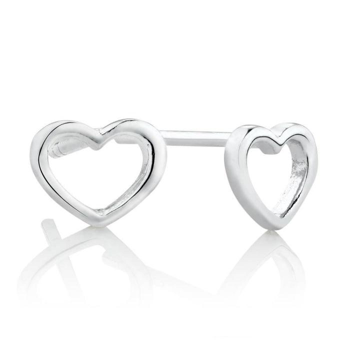 Brinco de Coração Vazado Prata 950 (0)