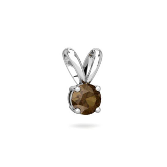 Pingente  com Pedra de Zirconia Marrom em Prata 950 (0)