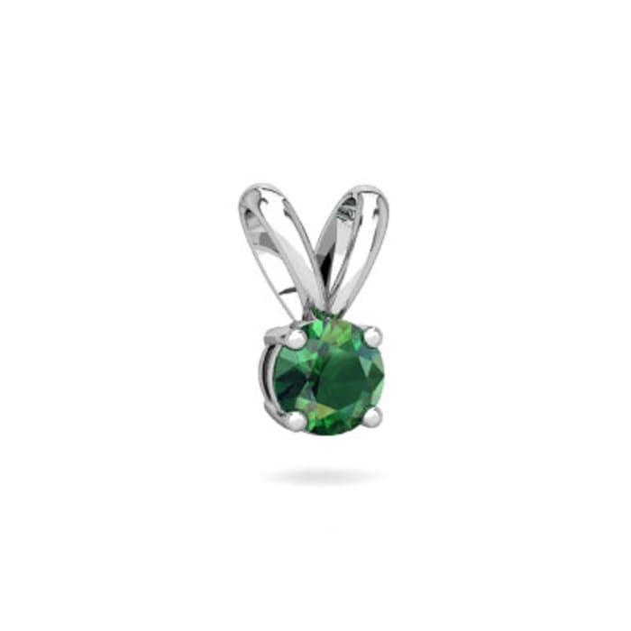 Pingente com Pedra de Zirconia Verde em Prata 950 (0)