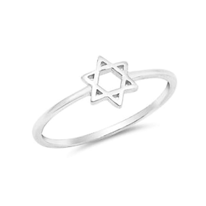 Anel Estrela de Davi Feminino em Prata 950 (0)