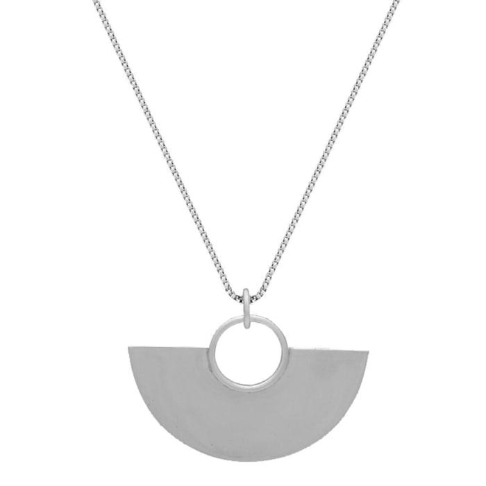 Colar Meio Círculo Grande em Prata 950 (0)