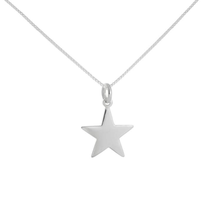 Colar com Pingente Estrela em Prata 925 (0)