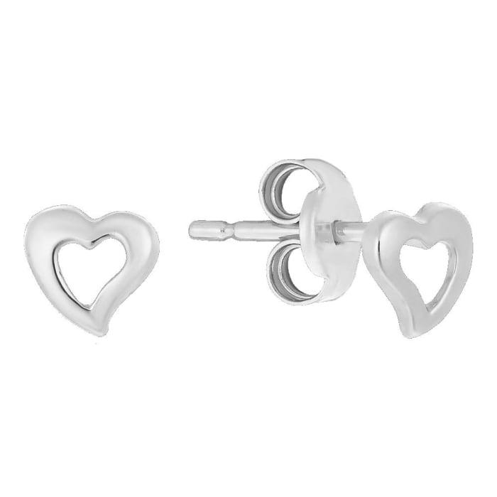 Brinco Infantil Coração Vazado em Prata 950 (0)