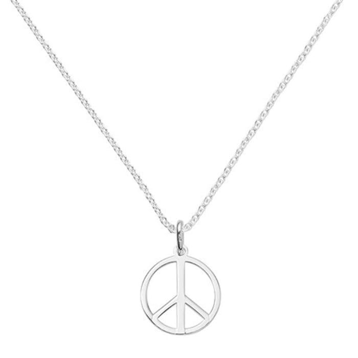 Colar com Simbolo da Paz em Prata 950 (0)
