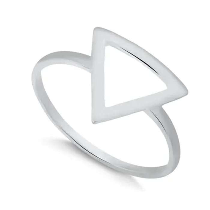 Anel Triângulo Geométrico em Prata 950 (0)