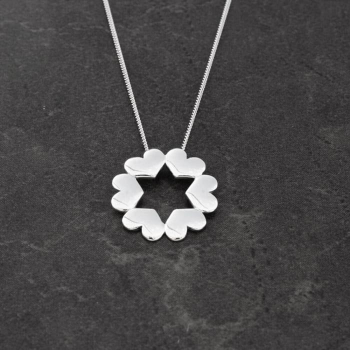 Colar Mandala Coração em Prata 950 (0)