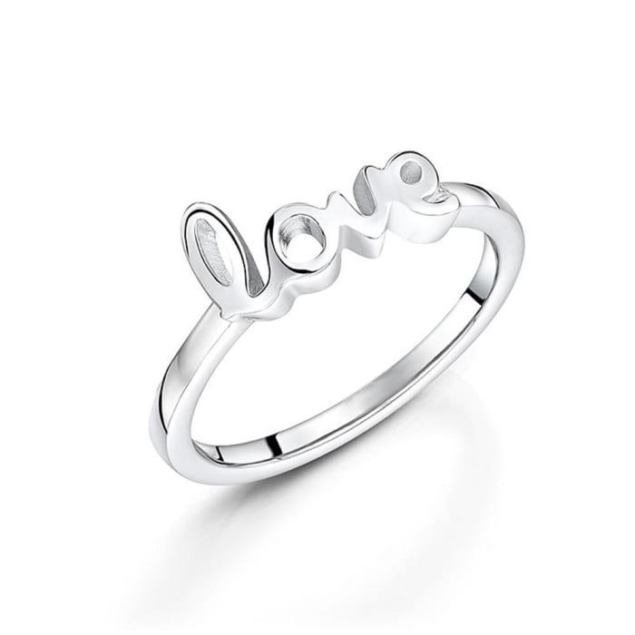 Anel Escrito Love em Prata 950 (0)