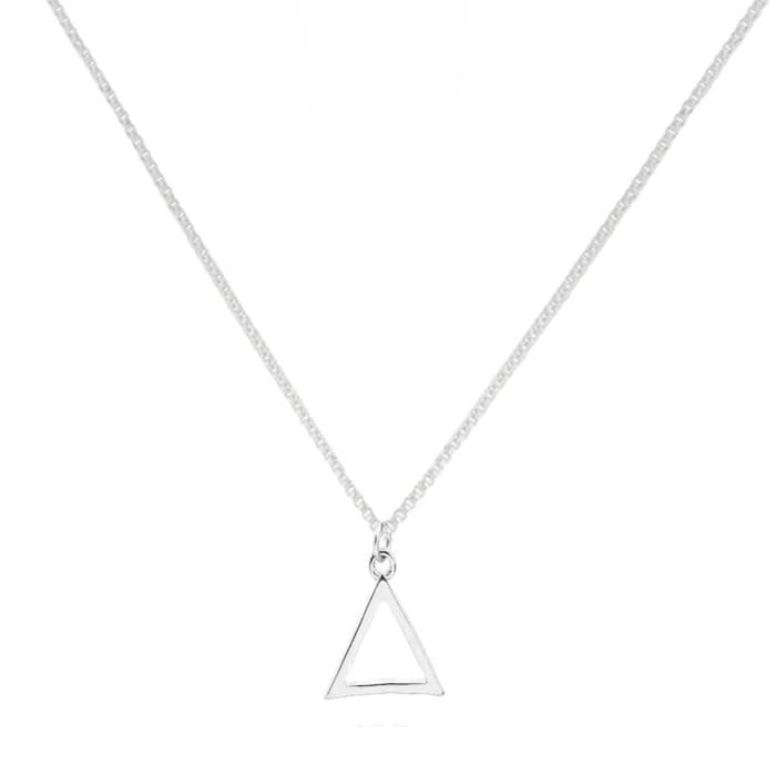 Colar Triangulo Delicado em Prata 925 (0)