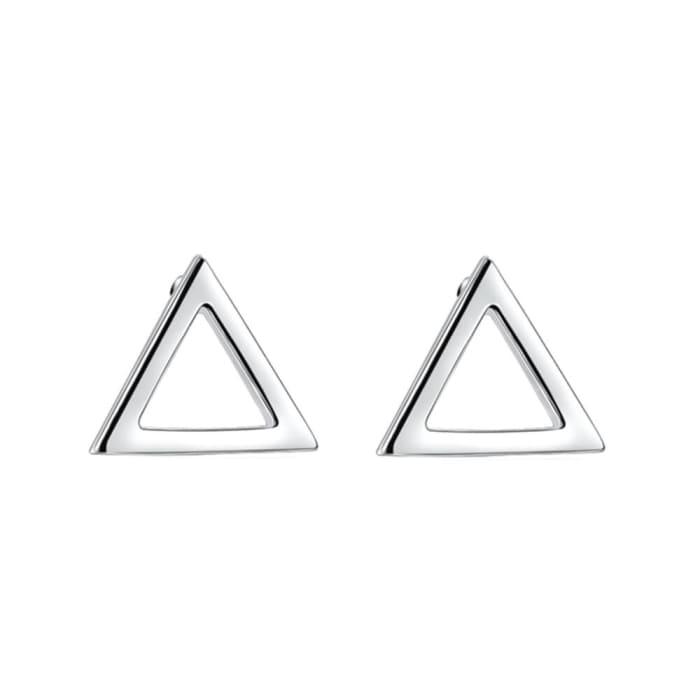 Brinco Triangulo Vazado Prata 950 (0)